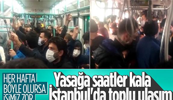 Yine bir Çile! İstanbul'da tramvayda sosyal mesafesiz yolculuk