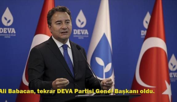 Ali Babacan, DEVA Partisi Genel Başkanlığına seçildi