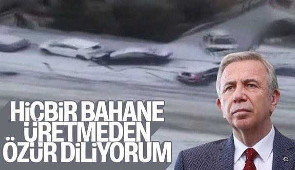 Ankara'da kara geç müdahele sonrası Mansur Yavaş özür diledi