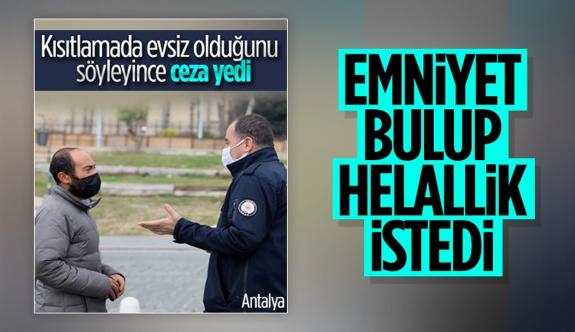 Antalya'da ceza kesilen evsiz sokakta uyurken bulundu