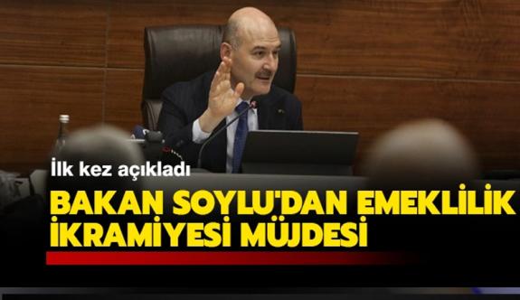 Bakan Soylu'dan polislere emeklilik ikramiyesi müjdesi!