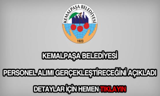 Bursa Mustafa Kemalpaşa Belediyesi 3 İşçi Alımı İlanı
