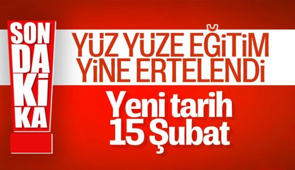 Cumhurbaşkanı Erdoğan: Yüz yüze eğitime verdiğimiz arayı 15 Şubat'a kadar uzatıyoruz