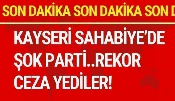 Kayseri'de Korona virüsü hiçe saydılar Müthiş cezayı yediler!