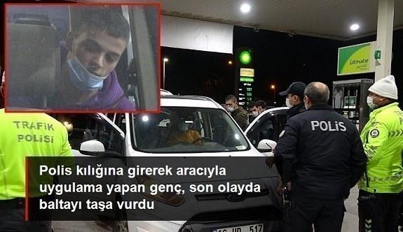 Sahte polis, gerçek sivil polise kimlik sorunca yakalandı