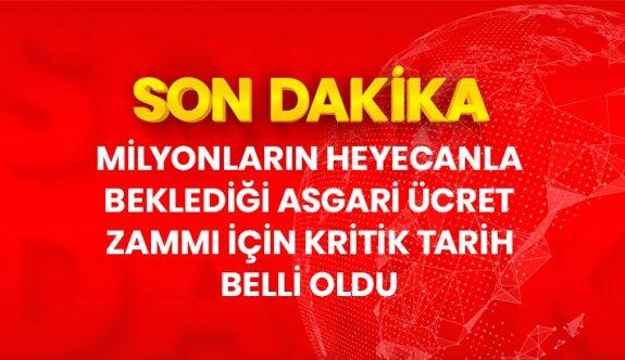 Son Dakika: Asgari ücret zammı için son toplantı 28 Aralık Pazartesi günü yapılacak