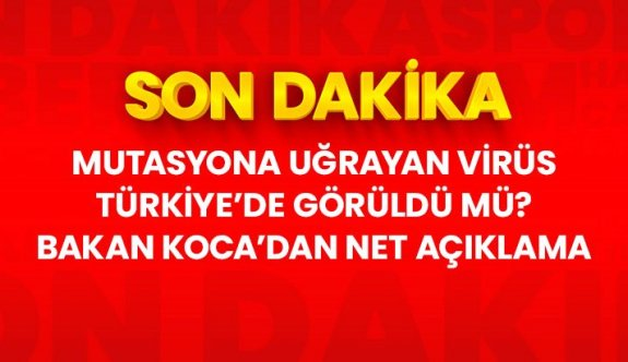 Son Dakika! Sağlık Bakanı Fahrettin Koca: Türkiye'de mutasyona uğrayan koronavirüse rastlanmadı