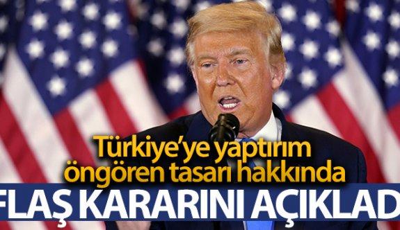 Trump, Türkiye'ye yaptırımları da içeren yeni savunma bütçesini veto edeceğini açıkladı