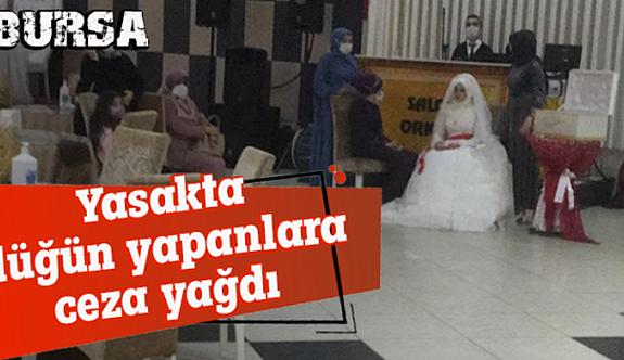 Yasakta düğün yapanlara ceza yağdı