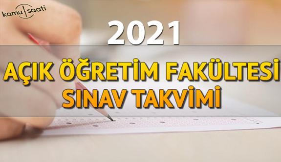 2021 AÖF final sınav tarihleri ne zaman? AÖF sınavı saat kaçta? Sınav giriş ekranı