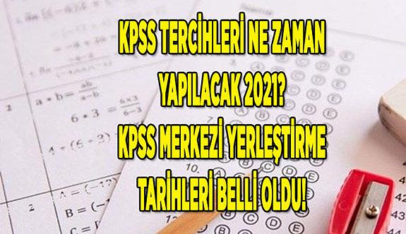 2021 KPSS yerleştirme takvimi bellirlendi