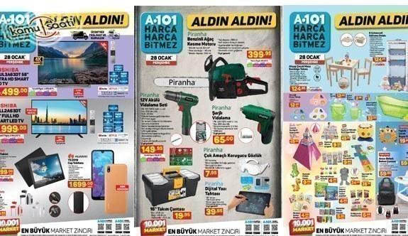 28 Ocak A101 aktüel kataloğu! Beyaz eşya, mobilya, elektronik, züccaciye ve gıda ürünlerinde..