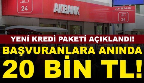 Akbank başvuran herkese anında nakit 20 bin TL veriyor!
