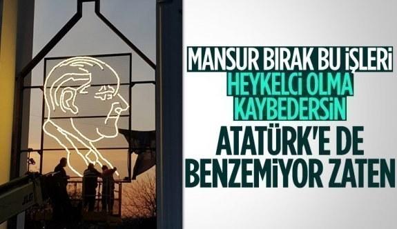 Ankara Büyükşehir Belediyesi'nden Gençlik Parkı'na Atatürk panosu