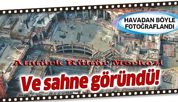 Atatürk Kültür Merkezi'nin yüzde 80'i tamamlandı, son hali havadan görüntülendi