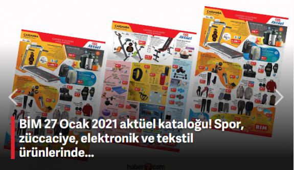 BİM 27 Ocak 2021 aktüel kataloğu! Spor, züccaciye, elektronik ve tekstil ürünlerinde...