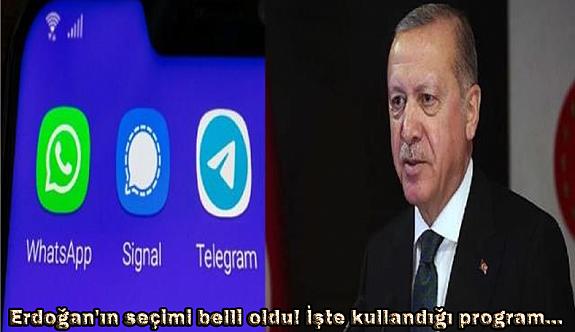 Erdoğan'ın seçimi belli oldu! İşte kullandığı program...