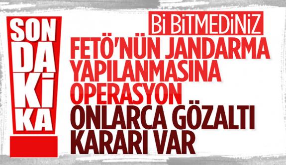 FETÖ'nün jandarma yapılanmasındaki 66 kişi için gözaltı kararı