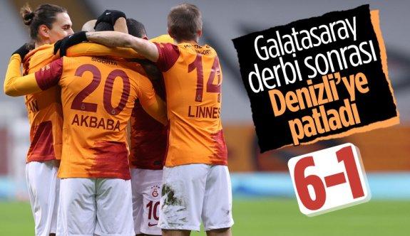 Galatasaray, Denizlispor'u 6 golle yendi