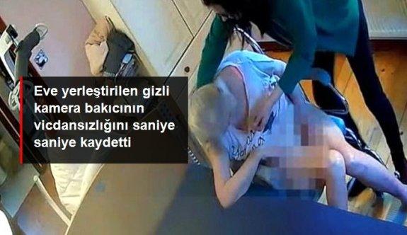Gizli kamera görüntüleri, yatalak kadına şiddet uygulayan bakıcıyı ele verdi