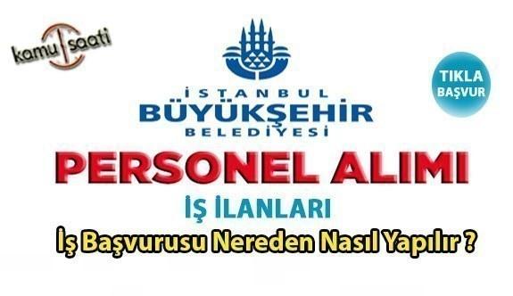 İstanbul Büyükşehir Belediyesi (İBB)  Kariyer üzerinden KPSS'siz personel alım yapılacak! İş ilanları ve İş başvurusu