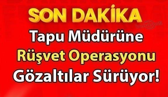 İstanbul Tapu Müdürü dahil 40 kişi rüşvetten gözaltına alındı