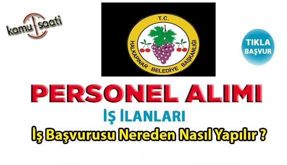Konya Halkapınar Belediyesi personel alımı yapacak 16 İşçi alımı iş ilanları iş başvurusu ve başvuru formu