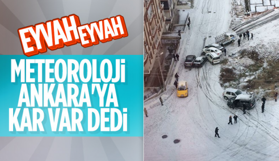 Meteoroloji uyardı: Ankara'ya kar geliyor