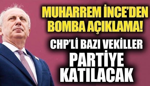 Muharrem İnce'nin Partisine hangi CHP'li vekiller katılacak? Hangi milletvekilleri Muharrem İnce'nin yanında yer alacak?