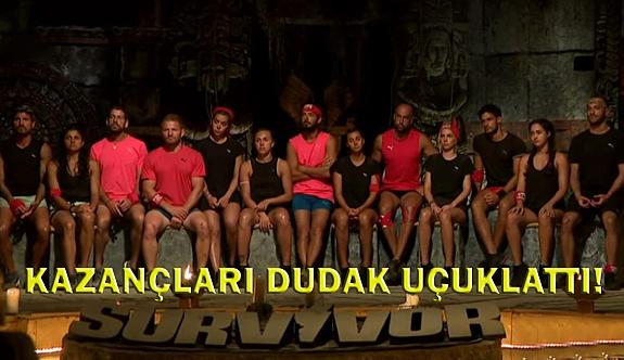 Survivor yarışmacılarının haftalık Kazançları Dudak Uçuklattı!