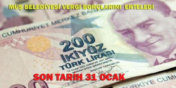 Vergi Borcu olanlar dikkat! Son tarih 31 Ocak