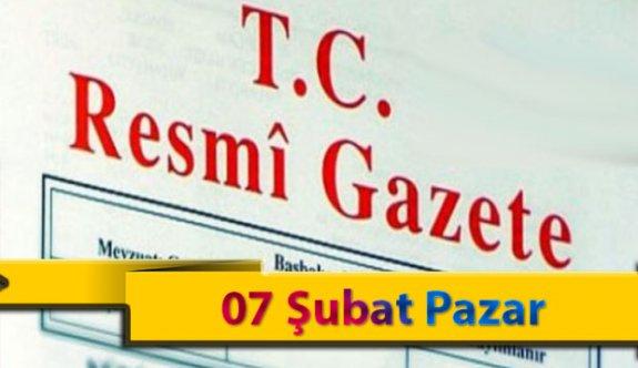 07 Şubat Pazar 2021 Resmi Gazete Kararları