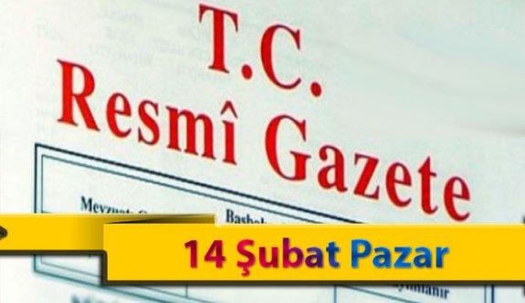 14 Şubat Pazar 2021 Resmi Gazete Kararları