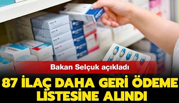 87 ilaç daha geri ödeme listesine alındı