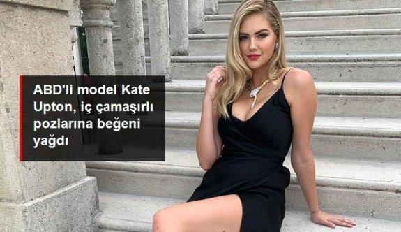 ABD'li model Kate Upton, iç çamaşırlı pozlarıyla sosyal medyada olay oldu