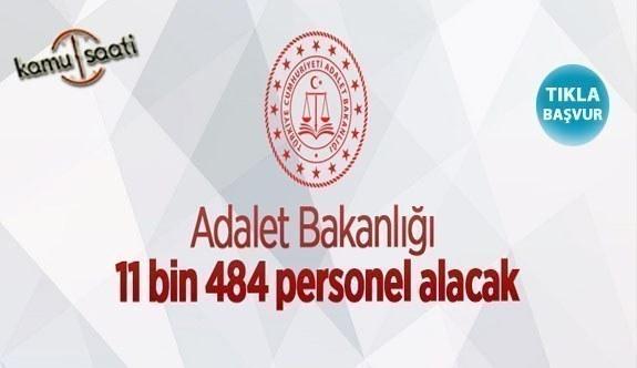 Adalet Bakanlığı 11484 personel alacak | 2021 yılı zabıt katibi, gardiyan şoför alım ilanları