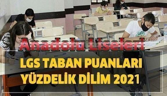 Anadolu Liseleri Taban Puanları Yüzdelik Dilimleri Öğrenci Kontenjanları 2021 LGS