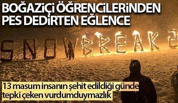 Boğaziçi Üniversitesi öğrencilerinden Uludağ'da tepki çeken eğlence