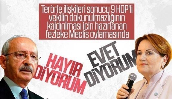 CHP ve İyi Parti'nin HDP'li vekiller için dokunulmazlık oylamasında vereceği karar