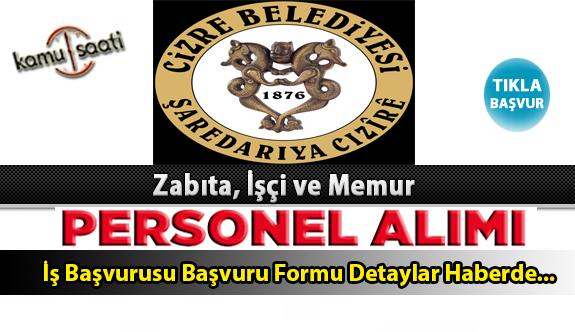 Cizre Belediyesi Personel Alımı İş ilanları ve Başvuru Formu
