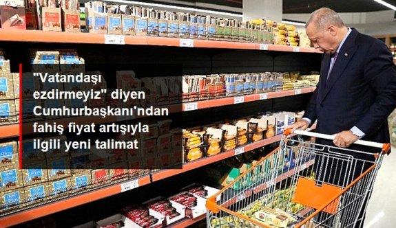 Cumhurbaşkanı Erdoğan'dan fahiş fiyat artışı talimatı: Kooperatif marketlerin sayısı artacak