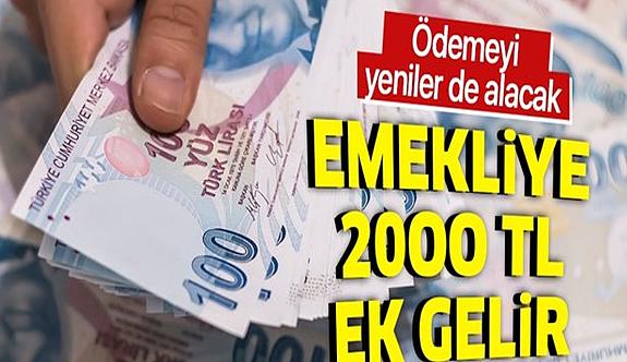 Emeklilere  Müjde! minimum 2.000 TL ödeme! 2021 yılı içerisinde Ödenecek !