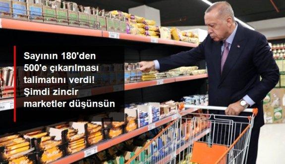 Erdoğan'dan zincir marketlerin fahiş fiyat uygulaması sonrası talimat: Tarım Kredi marketlerinin sayısı artırılacak