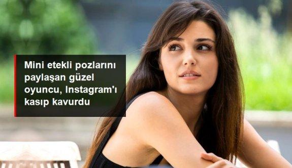 Hande Erçel'in mini etekli pozları 2 milyondan fazla beğeni aldı