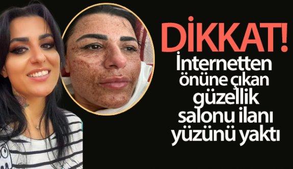 İnternetten önüne çıkan güzellik salonu ilanı yüzünü yaktı