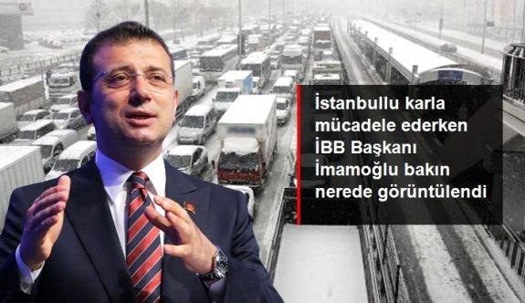 İstanbul kara teslimken İBB Başkanı İmamoğlu tiyatro salonunda incelemelerde bulundu