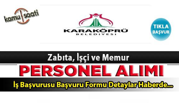 Karaköprü Belediyesi Personel Alımı İş ilanları ve Başvuru Formu