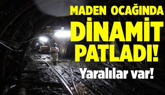 Kayseri Yahyalı Suçatı Maden ocağında dinamit patladı! Yaralılar var!