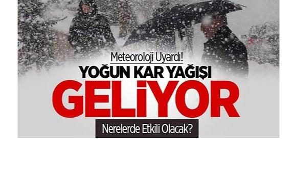Meteorolojiden yoğun kar yağışı uyarısı - Haritalı Türkiye geneli yağış tablosu