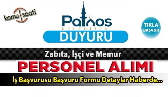 Patnos Belediyesi Personel Alımı İş ilanları ve Başvuru Formu